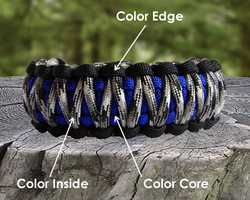 Custom Color King Cobra Survival Bracelet